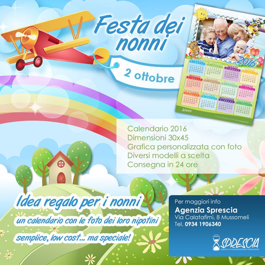 Calendario Festa Dei Nonni.Idea Regalo Firmata Sprescia Per La Festa Dei Nonni Sprescia